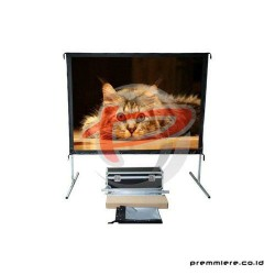 SCREENVIEW Screen Projector Fast Fold Front & Rear 100 INCH Diagonal [FRSV1520]